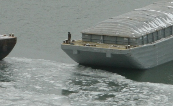 man on barge